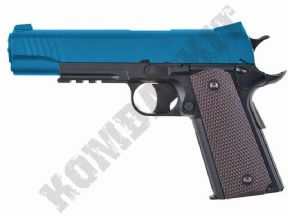 KC-40DHN BB Gun | 1911 Railed CO2 Gas Airsoft Pistol Black 2 Tone Metal | KOMBATKIT
